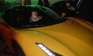 First ferrari driver female in saudia